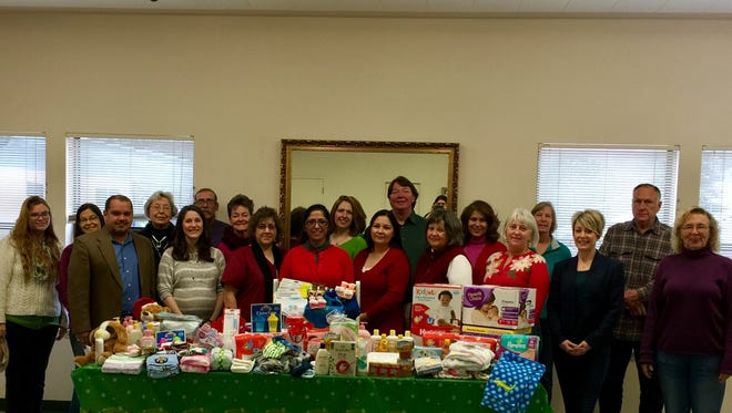 Lincoln County Community Health Council members purchased baby items for Head Start families in need for Christmas. The