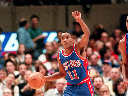 Isiah Thomas won two titles with the Pistons.