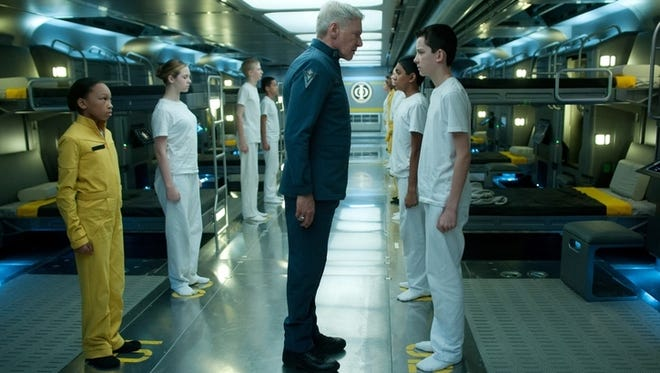 Harrison Ford, left, and Asa Butterfield star in 'Ender's Game.'