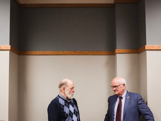 Earl 'Gunny' Christensen talks with Veteran Mentor