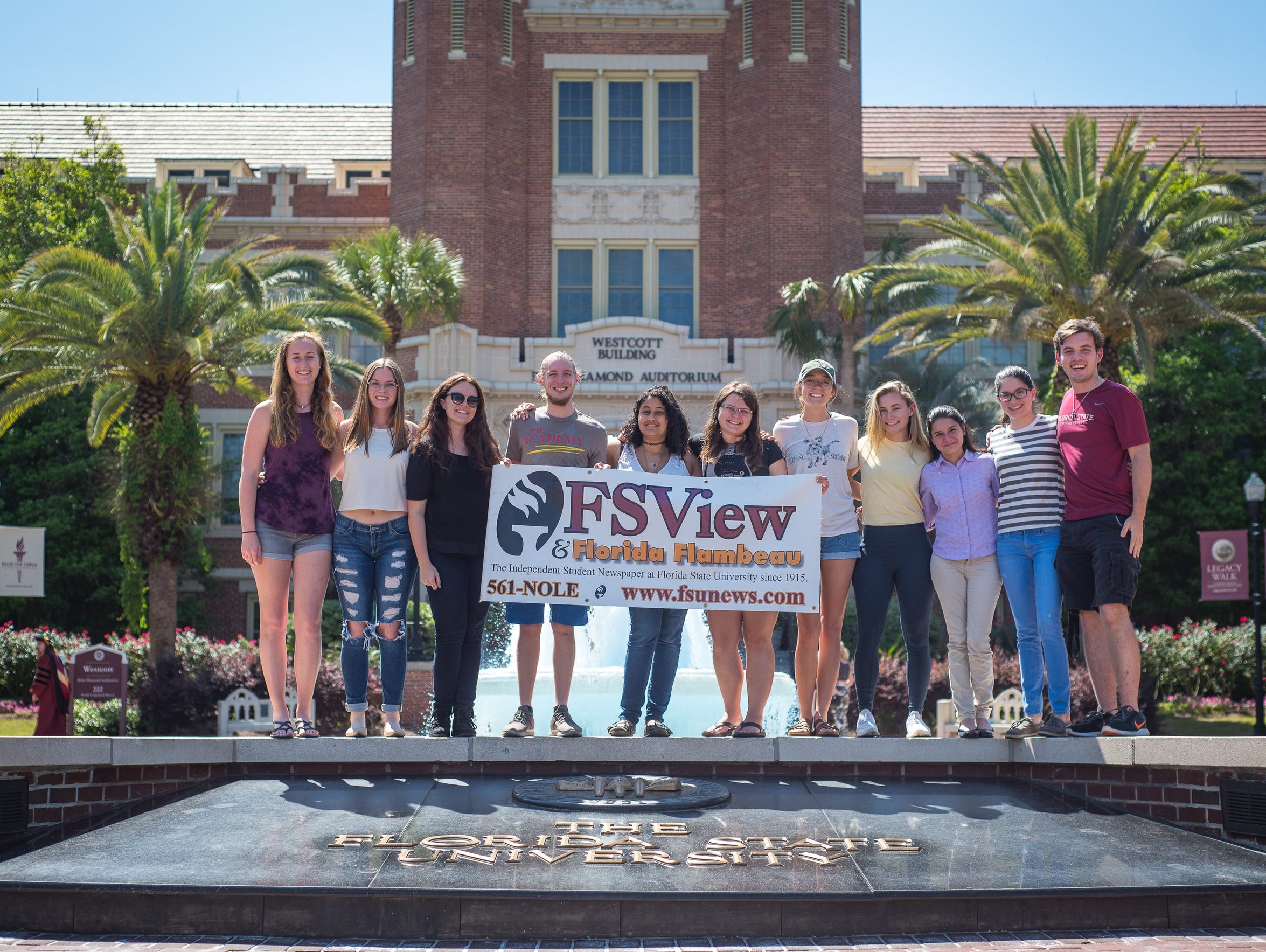 The FSView crew outside of the iconic Westcott building.