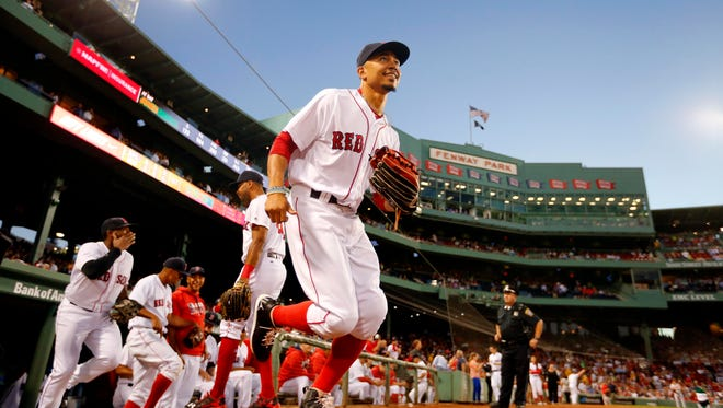 Outfielder Mookie Betts was one of the primary forces in the Red Sox's top-ranked offense.