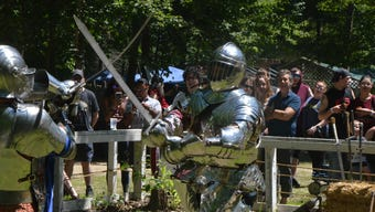 The sixth annual BlackRock Medieval Fest at The Olde World Villiage in Augusta is open on Saturdays and Sundays, from July 7 through August 5, from 10 a.m. to 6 p.m.