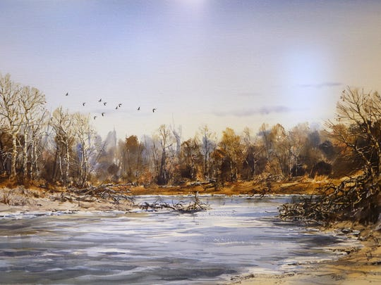 """A watercolor by artist Jerry Smith titled """"Sycamore"""