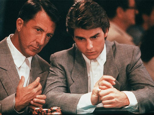 Dustin Hoffman, left, and Tom Cruise in 1988's 'Rain