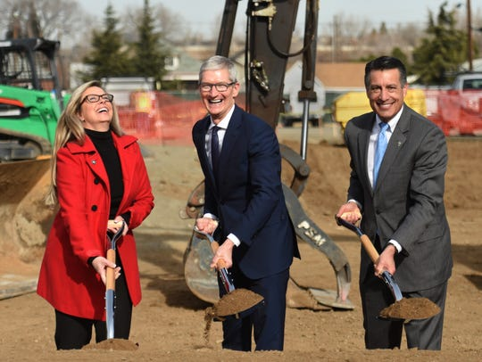 Apple CEO Tim Cook visited Reno for the groundbreaking