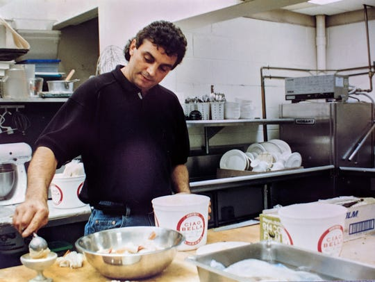 Sal Ferranteat in the kitchen of Bel Paese Italian