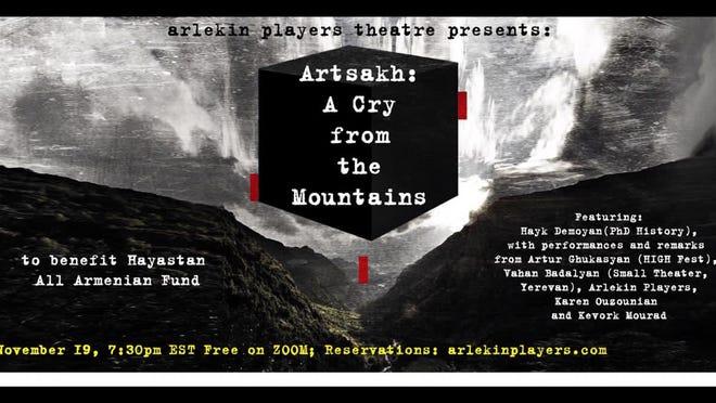 Arlekin Players Theatre will present an evening dedicated to Armenia at 7:30 p.m. Nov. 19 via Zoom.