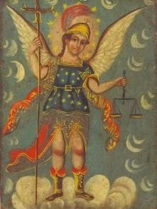 """""""The Archangels Michael and Raphael"""" is on exhibit at the El Paso Museum of Art."""
