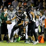 West Salem's Keonte McMurrin returns a kick off against Sprague during a Greater Valley Conference game, Friday, Oct. 2, 2015, in Salem, Ore.