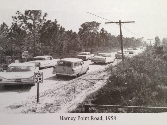 The first road constructed on the Cape was Harney Point