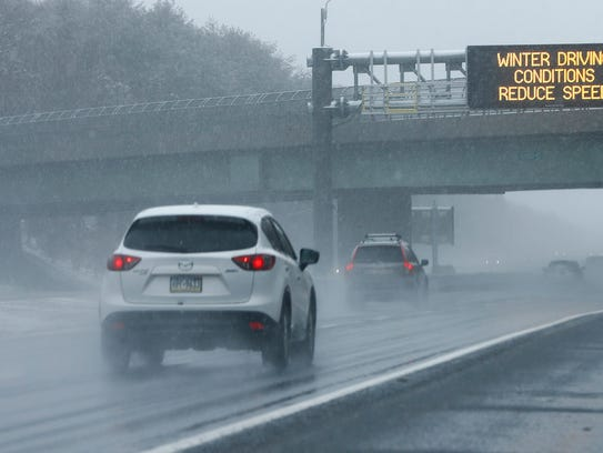 Drivers on Route 195 westbound in Howell were met with