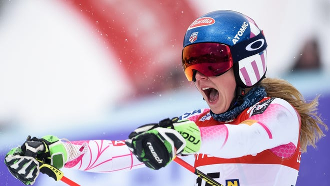 Mikaela Shiffrin of USA takes 1st place during the Audi FIS Alpine Ski World Cup Women's Giant Slalom on Dec. 27, 2016 in Semmering, Austria.
