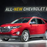 Chevrolet introduces the 2018 Equinox compact SUV Thursday, September 22, 2016 in Chicago, Illinois. The 2018 Equinox goes on sale in the first quarter of 2017.
