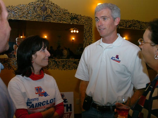 Attorney Jimmy Faircloth is shown in 2009 with his wife, Kelly, while campaigning for a seat on the Louisiana Supreme Court. He lost in a close election. Faircloth, who handled high-profile cases for Gov. Bobby Jindal, says he has no plans to run for office again.