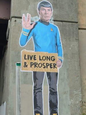 "Mr. Spock appeared on the 50th anniversary of the airing of the first ""Star Trek"" episode on NBC."