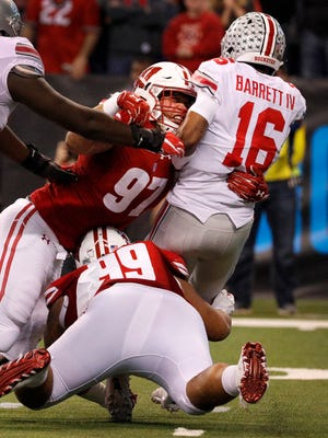 Wisconsin defensive end Isaiahh Loudermilk (97) had surgery in May to repair a torn meniscus in his left knee.