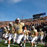 The Knights take the field in the 2015 season opener against FIU on Sept. 3, 2015. The Knights would go on to lose 15-14.