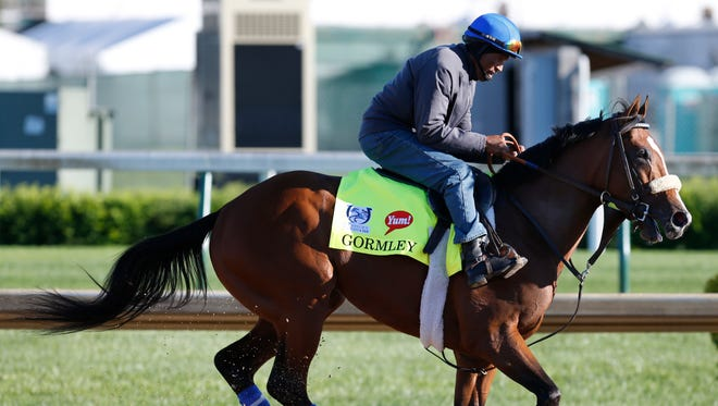 Kentucky Derby hopefuil Gormley galloped at Churchill Downs. May 2, 2017.