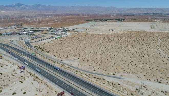 A marijuana grow facility has been approved for development on this large chunk of land at Interstate 10 and Indian Canyon, June 22, 2018.