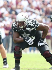Mississippi State's sturdy left tackle earned All-SEC honors as a senior.
