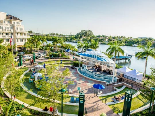 The Harbourside Place amphitheater in Jupiter is seen.
