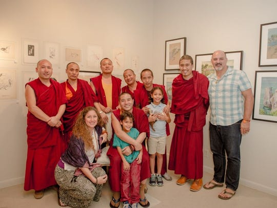 The Cini family a few months ago hosted Tibetan monks