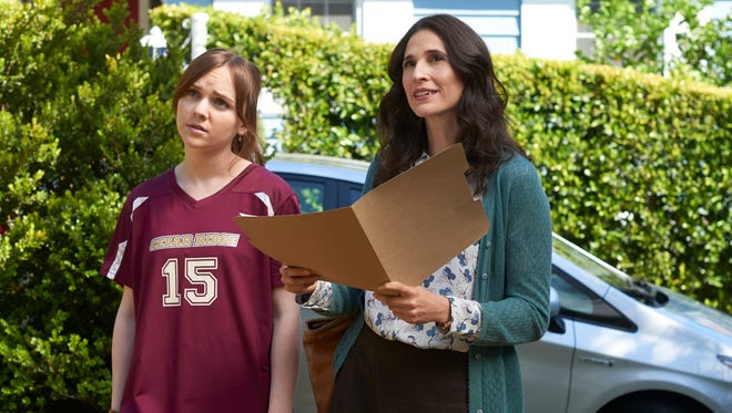 Tara Lynne Barr, left, plays Laura and Michaela Watkins plays her mother, Valerie, in Hulu's 'Casual.'