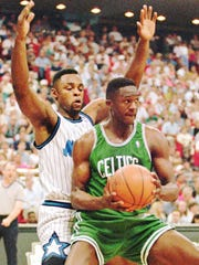 Hall of Fame basketball star Dominique Wilkins, shown in 1995 during his days with the Boston Celtics, is the guest speaker for the March 15 Pensacola Sports Awards banquet at New World Landing.