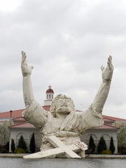 A 62-foot tall statue depicting Jesus Christ at Solid