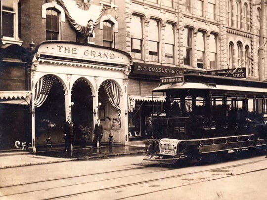 The Grand Theater operated on East Water Street in Elmira in the early 20th Century.