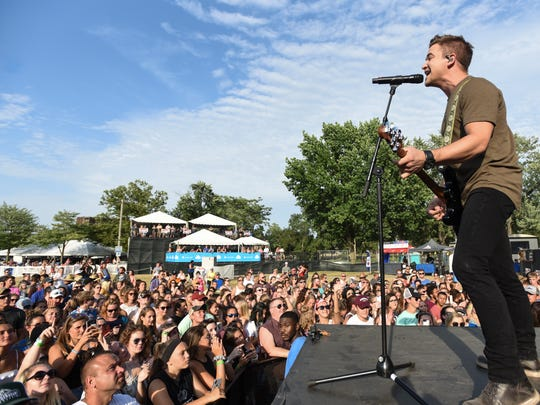 Country music performer Hunter Hayes performs with