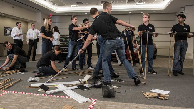 Engineering students from across the country made a mock race track to compete to intern with Infiniti Red Bull Formula 1 racing.