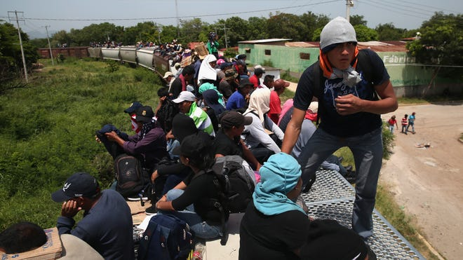 Some of the immigrants are robbed and assaulted by gangs who control the train tops, while others fall asleep and tumble down, losing limbs or perishing under the wheels of the trains. Only a fraction of the immigrants who start the journey in Central America will traverse Mexico completely unscathed