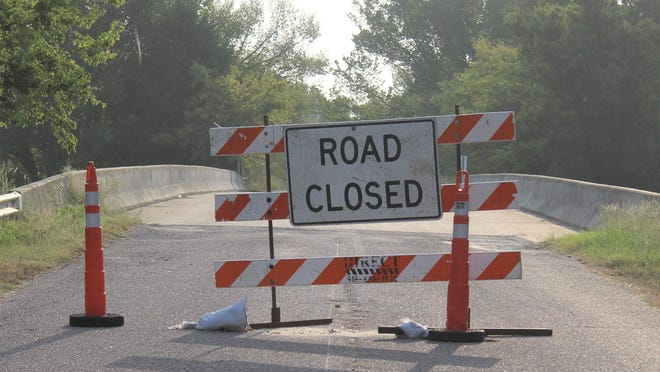 The Red Bud bridge across Highway 69/75 remains closed after an accident just over a month ago. Oklahoma Department of Transportation officials expect the bridge to be repaired in December and re-opened by the first of the year.