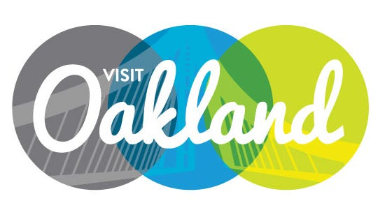 The new Visit Oakland logo is part of a new campaign to attract new visitors and residents to the city.