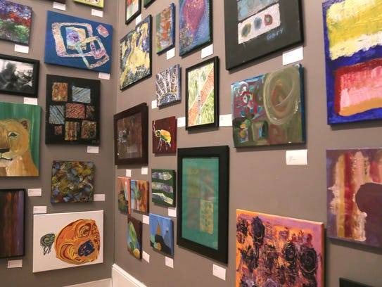 Various paintings were on display at Element of Art