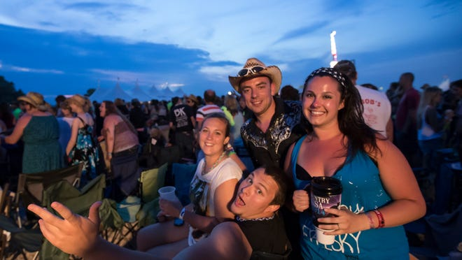 Country fans attend looking forward to the evening performers Friday at Country USA.