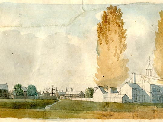 An image from the 1804 Latrobe Survey of the New Castle