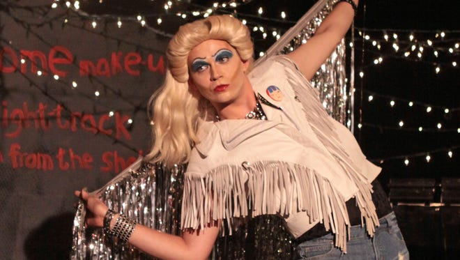 """Ryan Bowie as Hedwig Schmidt in """"Hedwig and the Angry Inch."""""""