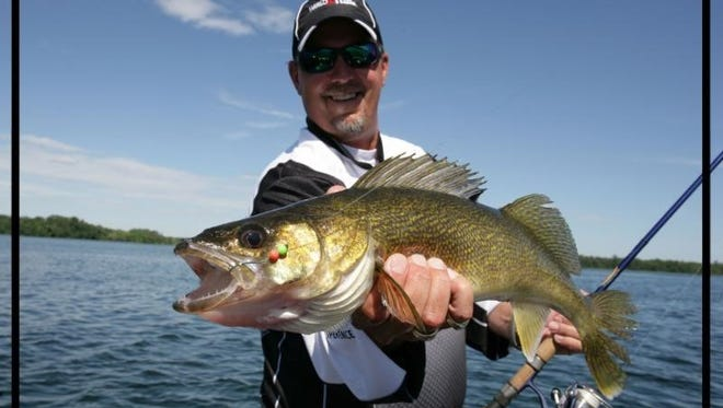 Using noise-making lures in the water can call walleyes from far distances