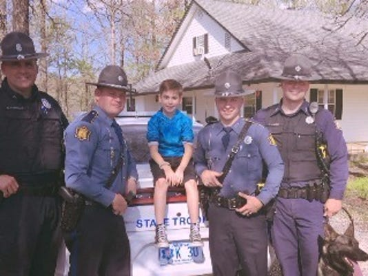 troopers surprise boy on his birthday