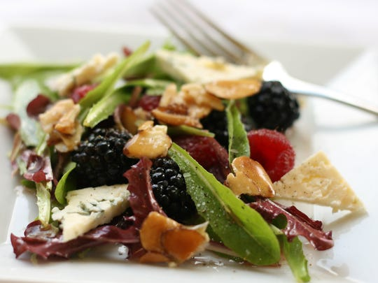 Micro Mesclun Salad with Mixed Berries, Blue Cheese
