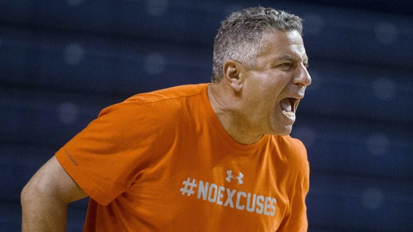 Auburn coach Bruce Pearl is still pursuing his first road win,