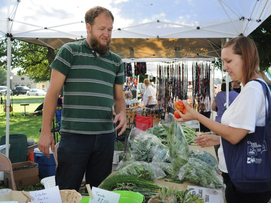 Fresh produce is available at the Carlsbad MainStreet Farmer's Market from a dozen different vendors.
