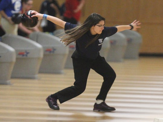 Section 1 girls bowling tournament at Fishkill Bowl Feb. 6, 2017.