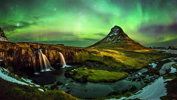 The Northern Lights in Iceland are best seen in winter.