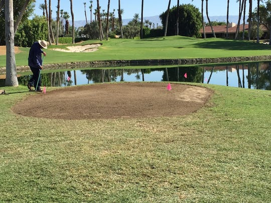 New forward tee on the ninth hole at Desert Horizons Country Club in Indian Wells.