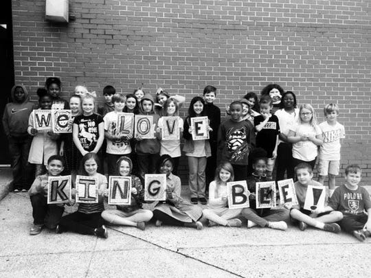 Prattville Elementary students send a special message to their favorite band, King Bee. Montgomery blues band King Bee competed at the International Blues Challenge in Memphis on Jan. 31-Feb. 4, 2017.