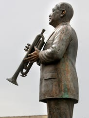 February 14, 2012 - The W.C. Handy statue graces Beale